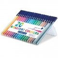 20 Filzstifte Triplus Fineliner de 1  mm - STAEDTLER - Brillant Colours