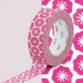 Masking Tape Ex 15 mm - Flower Stamp x10m