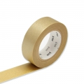 Masking Tape einfarbig 15 mm - Gold x10m