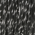 Blissino Spule made in Italien  0,6 mm schwarz / Silber x50m