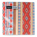 Papservietten Mexican Style 33 cm Braun/Rot Coral x20