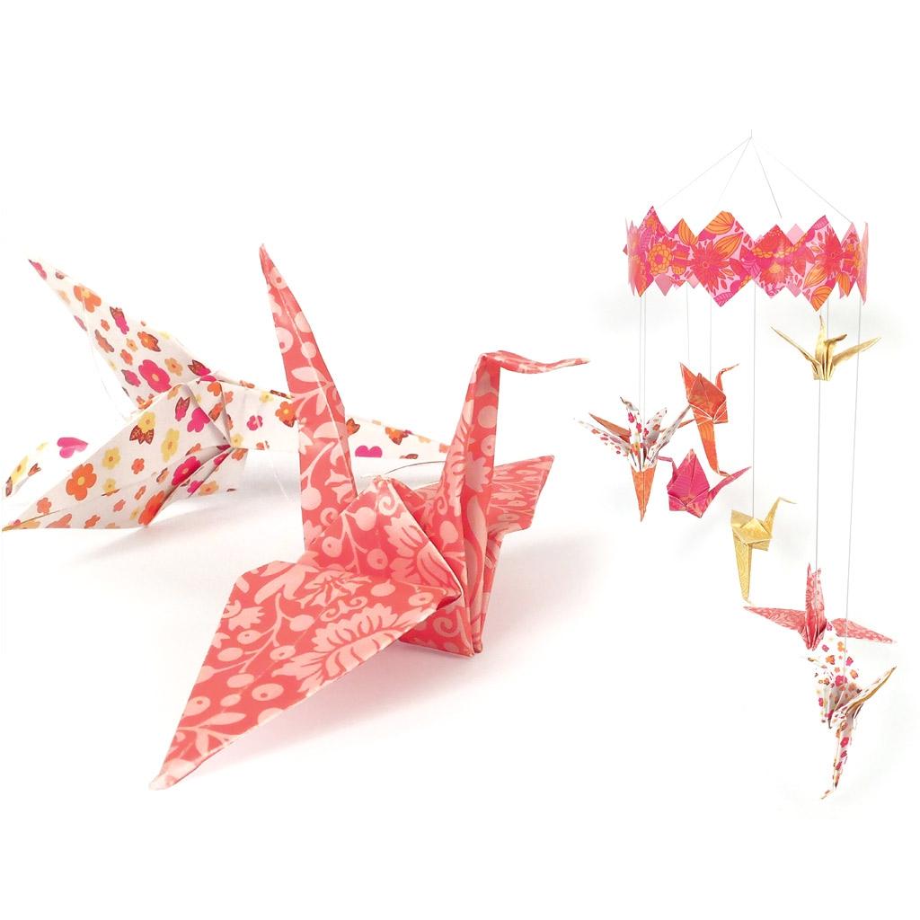 Papier Deko Set Für Kinder : Mobile Origami