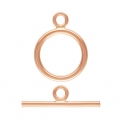 14K Rose Gold filled Knebelverschluss  11mm x1