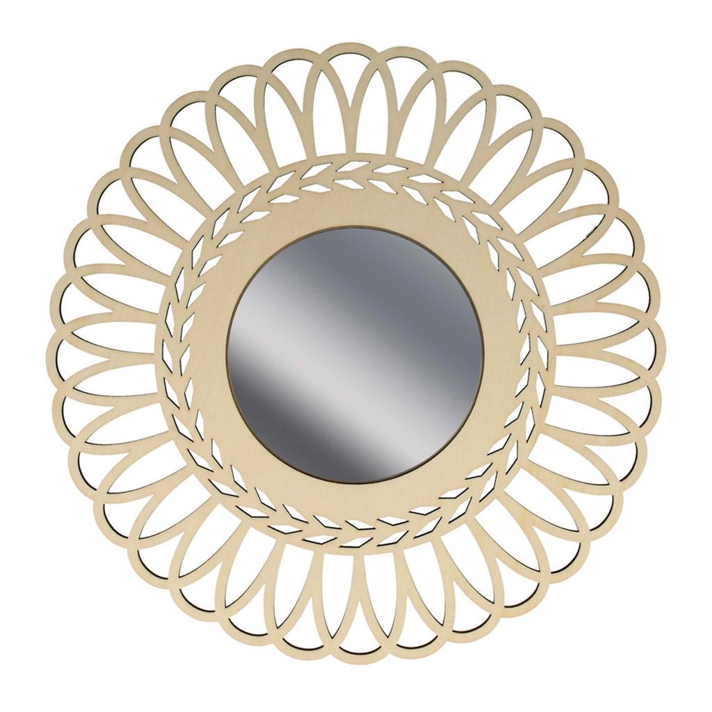 hohler spiegel aus holz zu verzieren 28 cm krone perles co. Black Bedroom Furniture Sets. Home Design Ideas