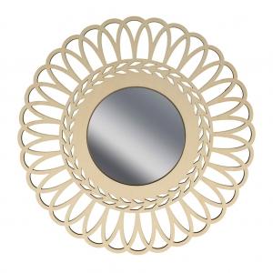 Hohler spiegel aus holz zu verzieren 28 cm krone perles co - Spiegel verzieren ...