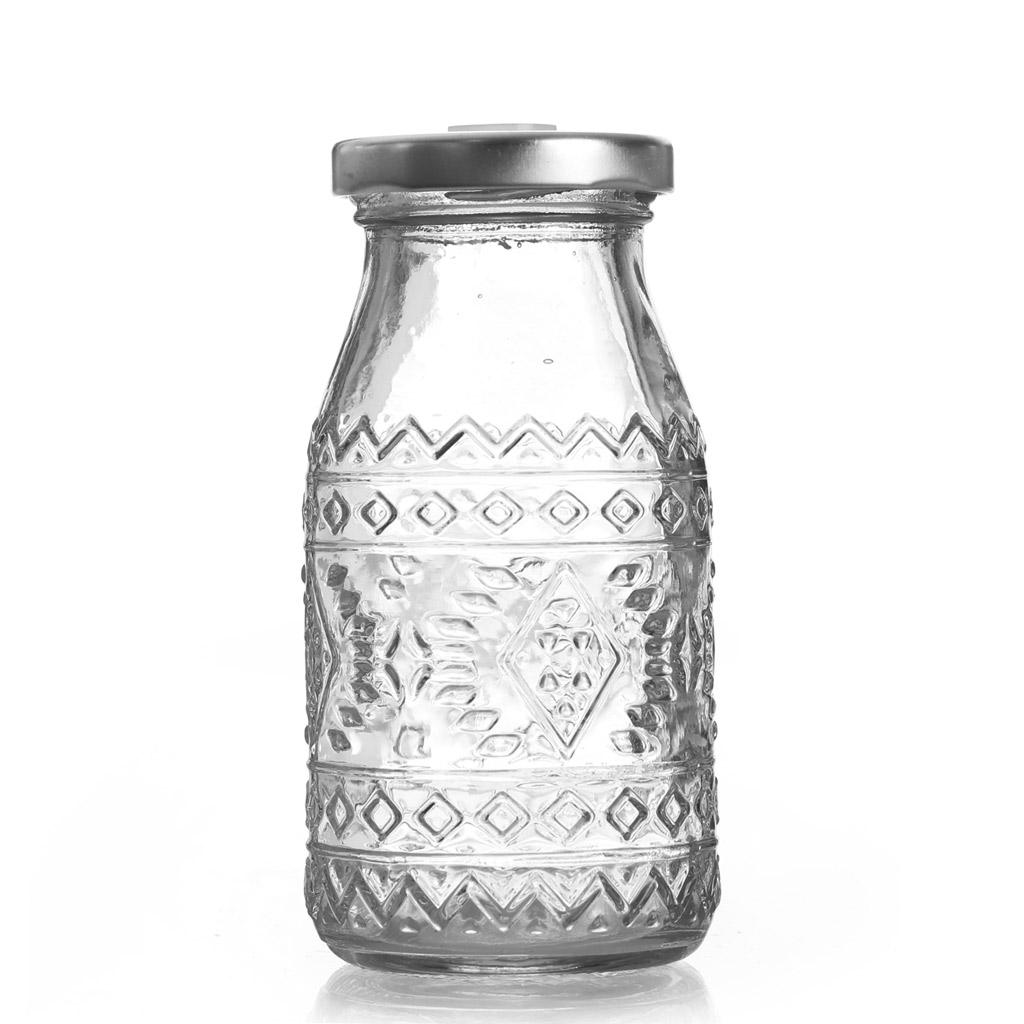 Flasche aus Glas 200 ml - mit Metall Deckel mit Loch x1 - Graine C ...