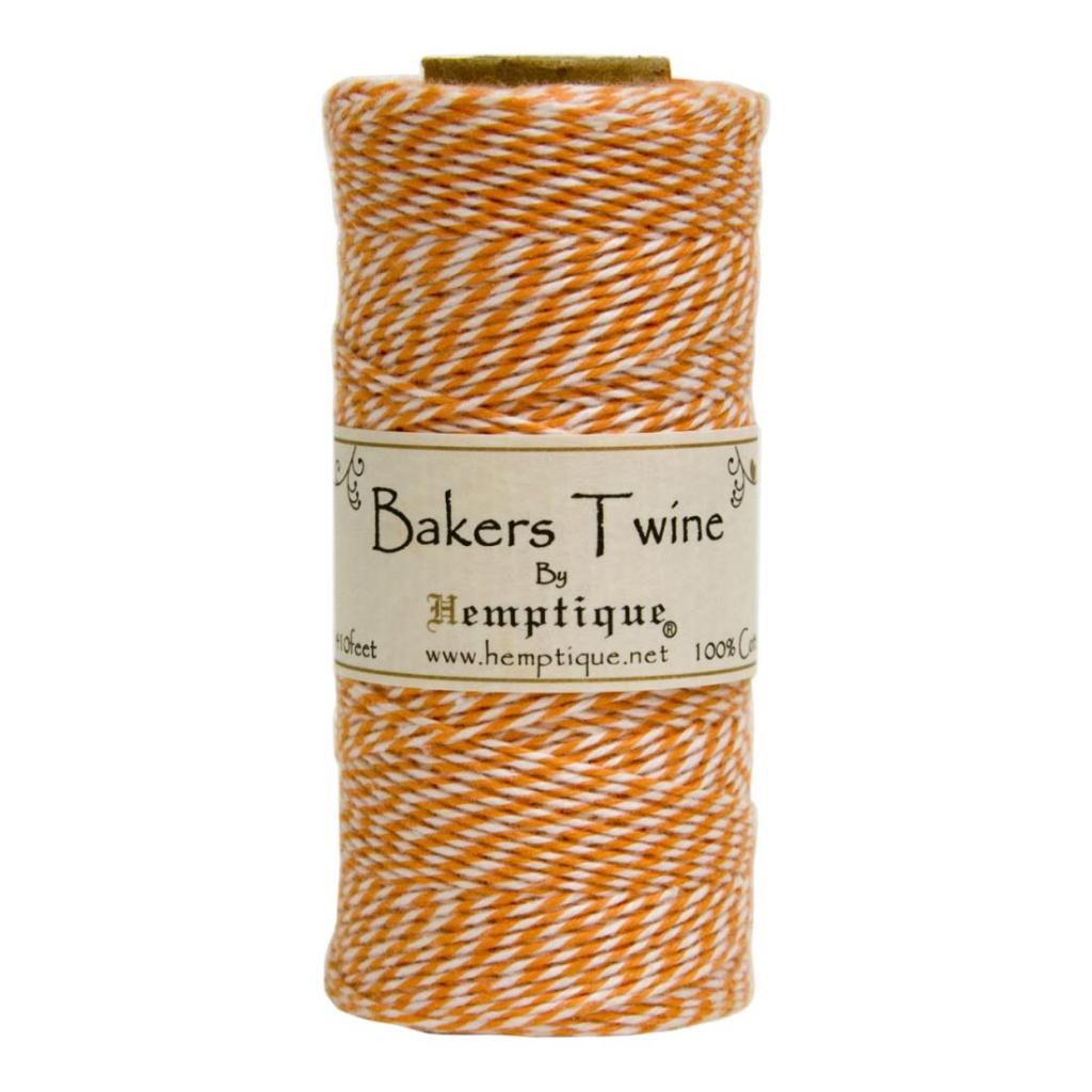 Spule mit 125 schnur bakers twine 1 mm wei orange for Spule mit geschirrspuler