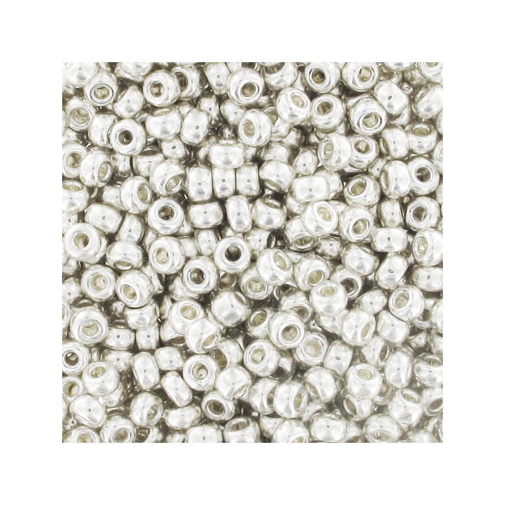 Rocaille Miyuki 11/0 1051 - Galvanized Silver Großpackung 100g - M ...