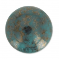 Glascabochon par Puca® 18 mm Green Turquoise Luster Bronze x 1