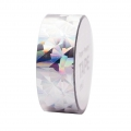Klebeband - Paper Poetry Tape 20 mm Hologramme Kristal Silberfarbenx10m