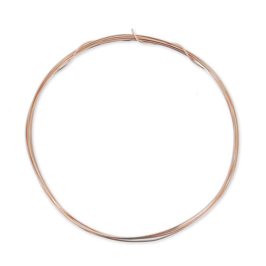 Rose Gold Filled Vergoldeter 12K Draht halbhart 0.41mm x1m - Perles & Co