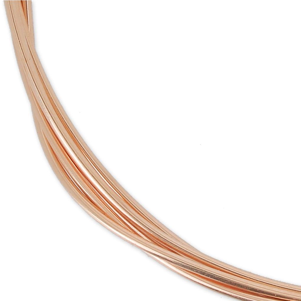 Rose Vergoldeter Draht 14 Karat 1mm mittelharter Draht x 1m - Perles ...