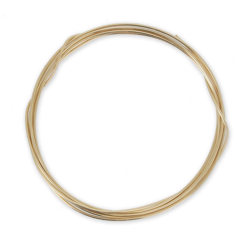 Gold Draht 12 Karat 0.81mm weich x 1 m - Perles & Co