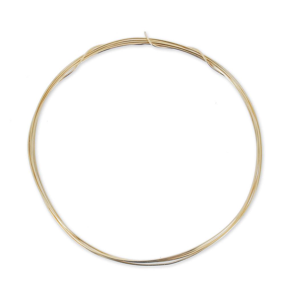 Gold Draht 12 Karat 0.41mm weich x 1 m - Perles & Co