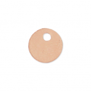 Runde Medaille  6 mm Rose Gold Filled x 1