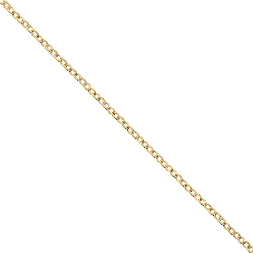 gliederkette 2mm edelstahl goldfarben x1m perles co. Black Bedroom Furniture Sets. Home Design Ideas