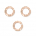 14K rose Gold Filled Biegeringe 4 x 0.7 mm x10