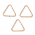 14K Rose Gold Filled Dreieckige Biegeringe 7.6 x 0.7mm x5