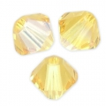 Swarovski Doppelkegel 4mm Light Topaz Shimmer x50