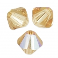 Swarovski Doppelkegel 4mm Light Colorado Topaz Shimmer x50