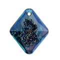 Swarovski Anhänger 6926 Growing Crystal Rhombus 26 mm Crystal Bermuda Blue