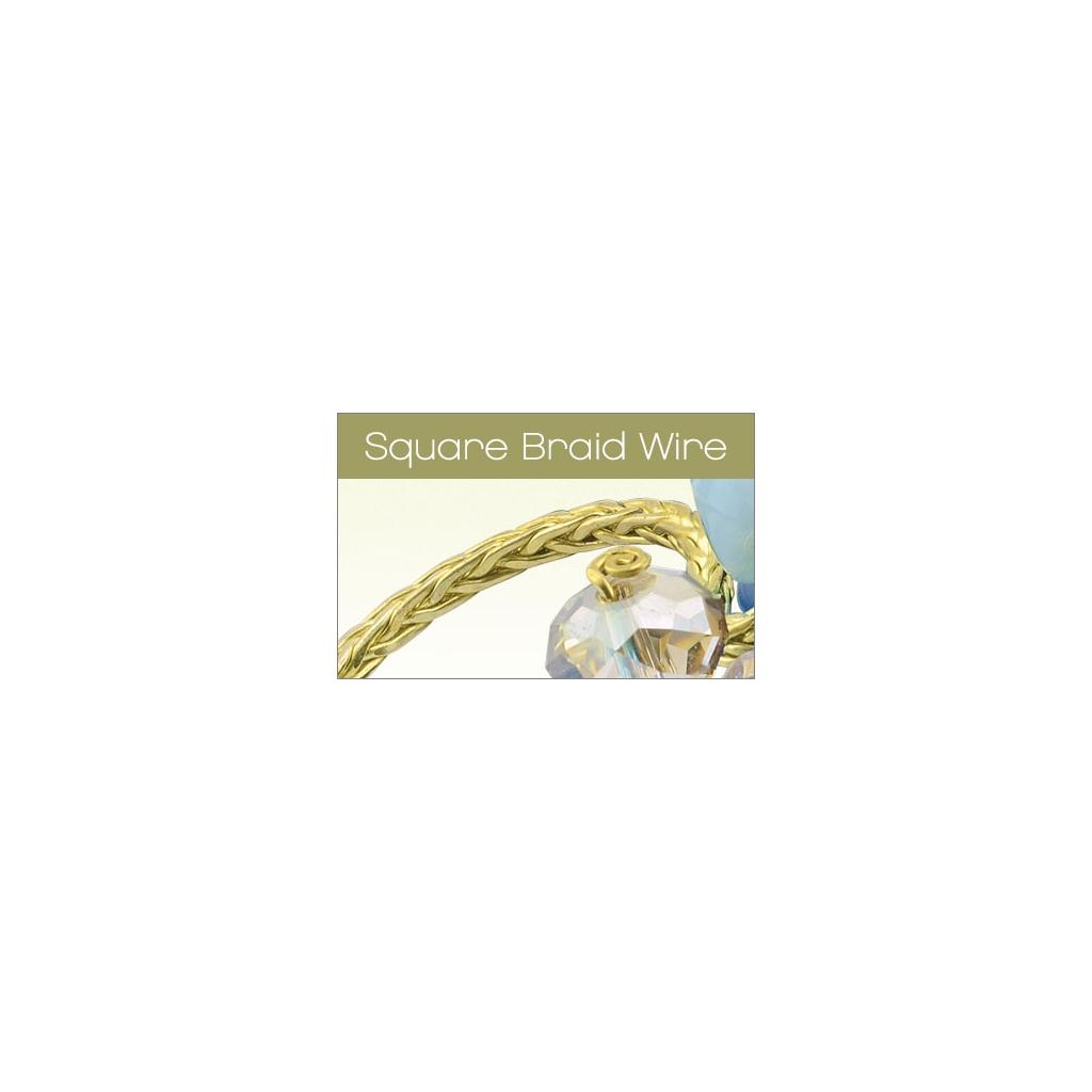 Copper Artistic Wire Braid geflochten quadratisch 1.6mm Bronze pho ...