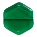 Glasperlen Vintage par Puca® Hexagone 16x15x4 mm Emerald x10