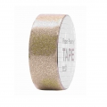 Klebeband - Paper Poetry Tape 15 mm Pailletten Gold x5m