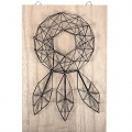 Kit String Art Dreamcatcher aus Rohem Holz Tabelle 20x30cm