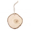 Suspension Rondelle aus rohem Holz 85 mm x 1