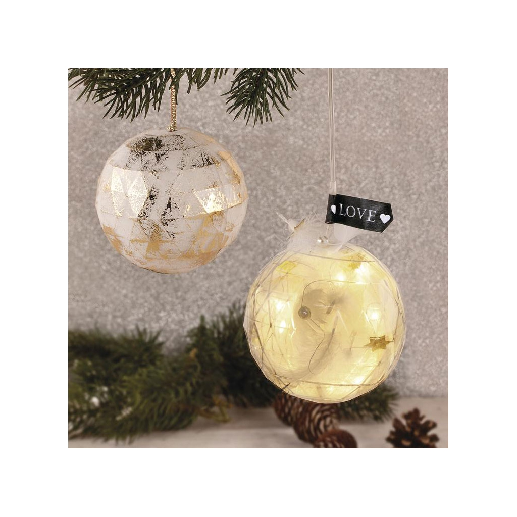 Durchsichtige Weihnachtskugel zum Befüllen 80 mm Facettée x1 ...