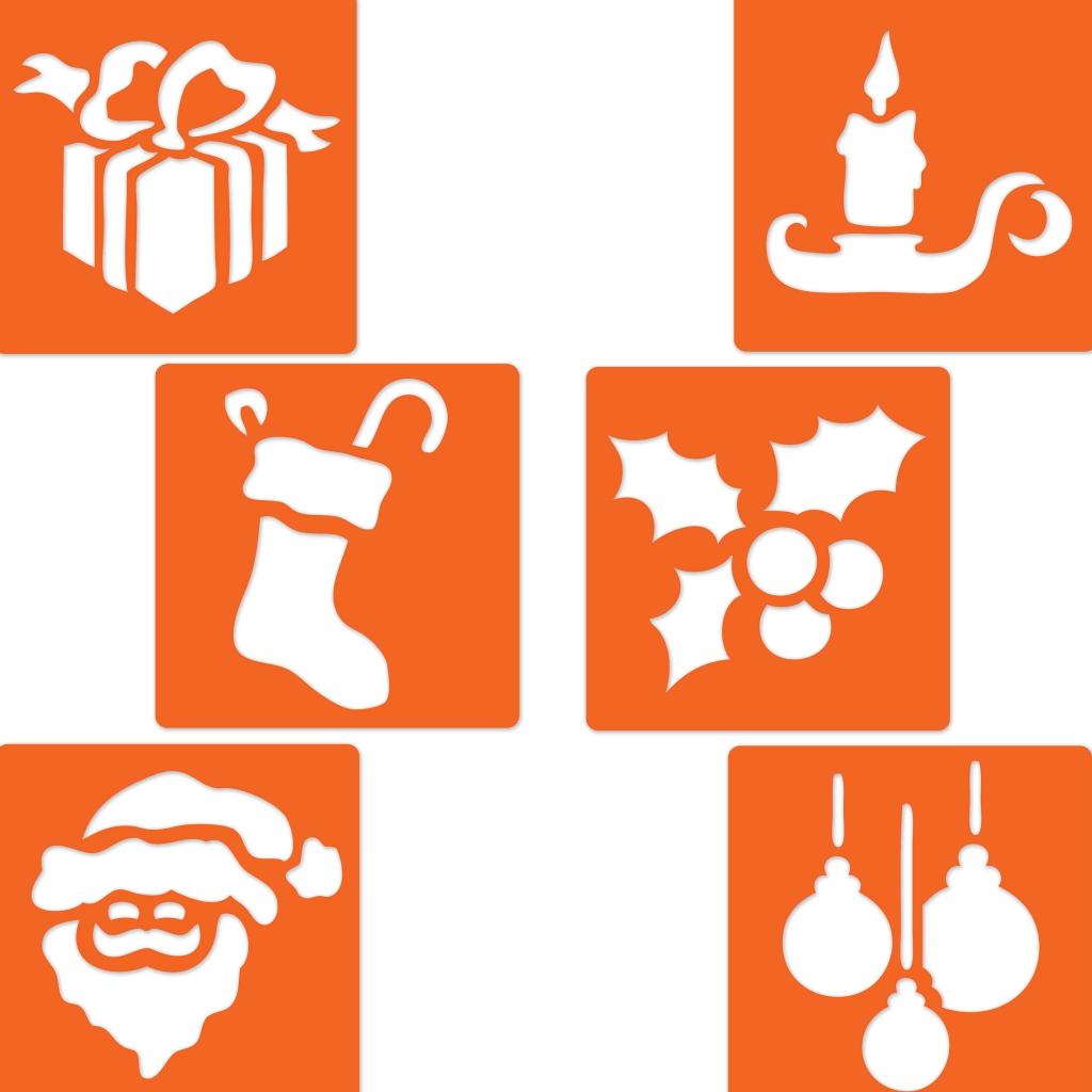 Weihnachten Kinder.Schablone Aus Kunststoff Für Kinder 14 5x14 5 Cm Weihnachten 2 X62 X6