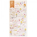 Assortiment de mini Stickers Kawaï Drawing Love