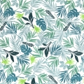 Baumwolle Stoff Daily Like - In the tropics leaf  - Tropical x10cm