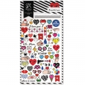 Assortiment de mini Stickers Kawaï 3D Qoquettish Eyes