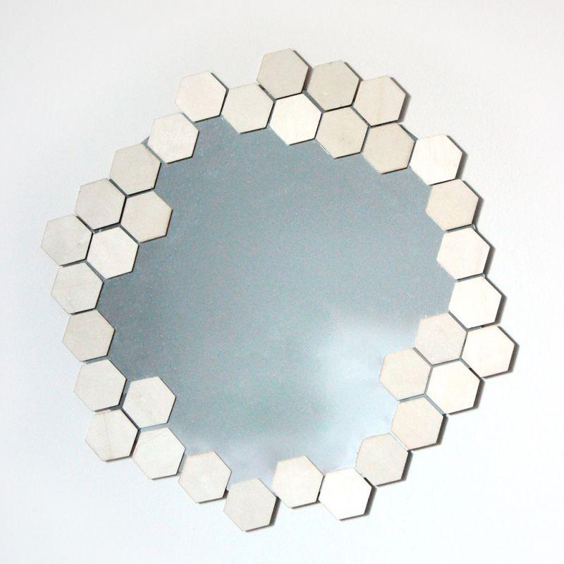 Runder glasspiegel zu verzieren 25 5 cm perles co - Spiegel verzieren ...