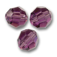 Swarovski 5000 Facettierte Rundperle 6mm Amethyst x6