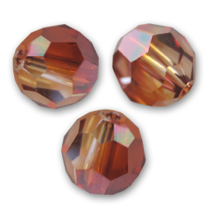 Swarovski 5000 Facettierte Rundperle 6mm Crystal Red Magma x6
