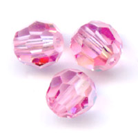 Swarovski 5000 Facettierte Rundperle 4mm Light Rose AB x20