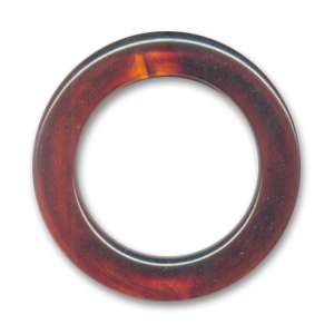 Ring 40mm Imitation Amber x1