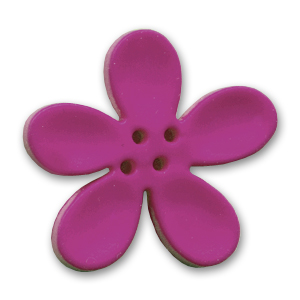 Orchidee Knopf 30mm Pflaume x1