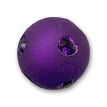 Polaris Rundperle mit Strass 8mm Purple Velvet x1