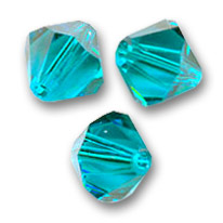 Swarovski Doppelkegel 5mm Blue Zircon x20