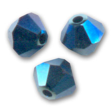 Swarovski Doppelkegel 6mm Crystal Metallic Blue 2X x20