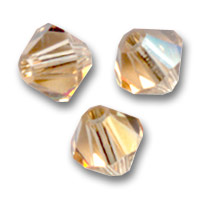 Swarovski Doppelkegel 4mm Light Colorado Topaz x50