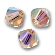 Swarovski Doppelkegel 4mm Light Colorado Topaz AB x50
