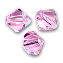 Swarovski Doppelkegel 4mm Light Rose x50