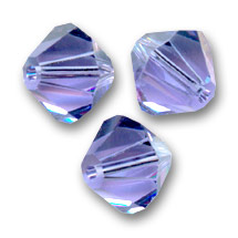 Swarovski Doppelkegel 4mm Tanzanite x50